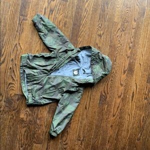 Gap Toddler Camo Jersey lined windbuster